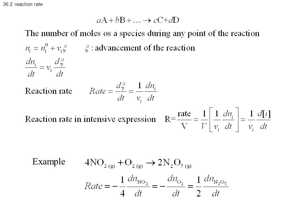 36.2 reaction rate Example
