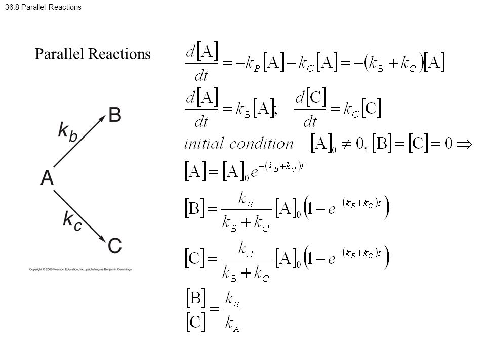 36.8 Parallel Reactions Parallel Reactions