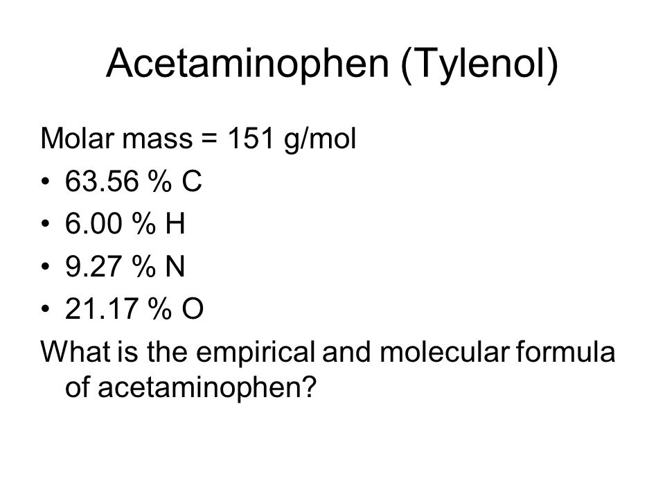 Acetaminophen (Tylenol)