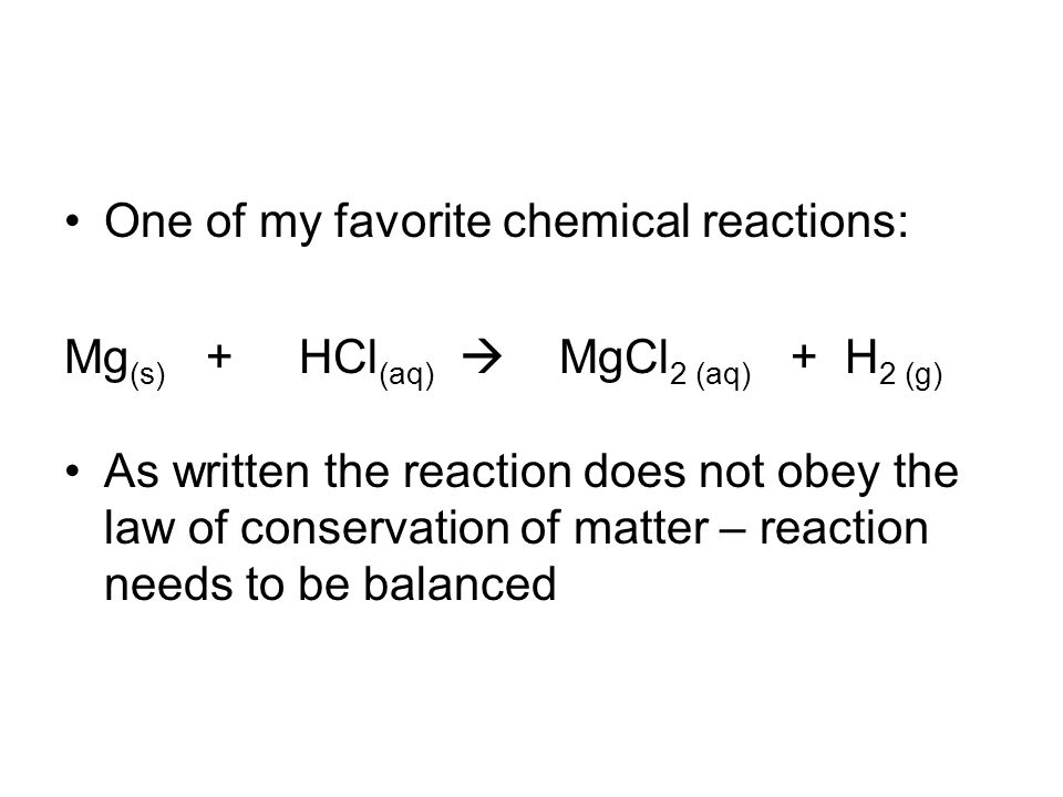 One of my favorite chemical reactions: