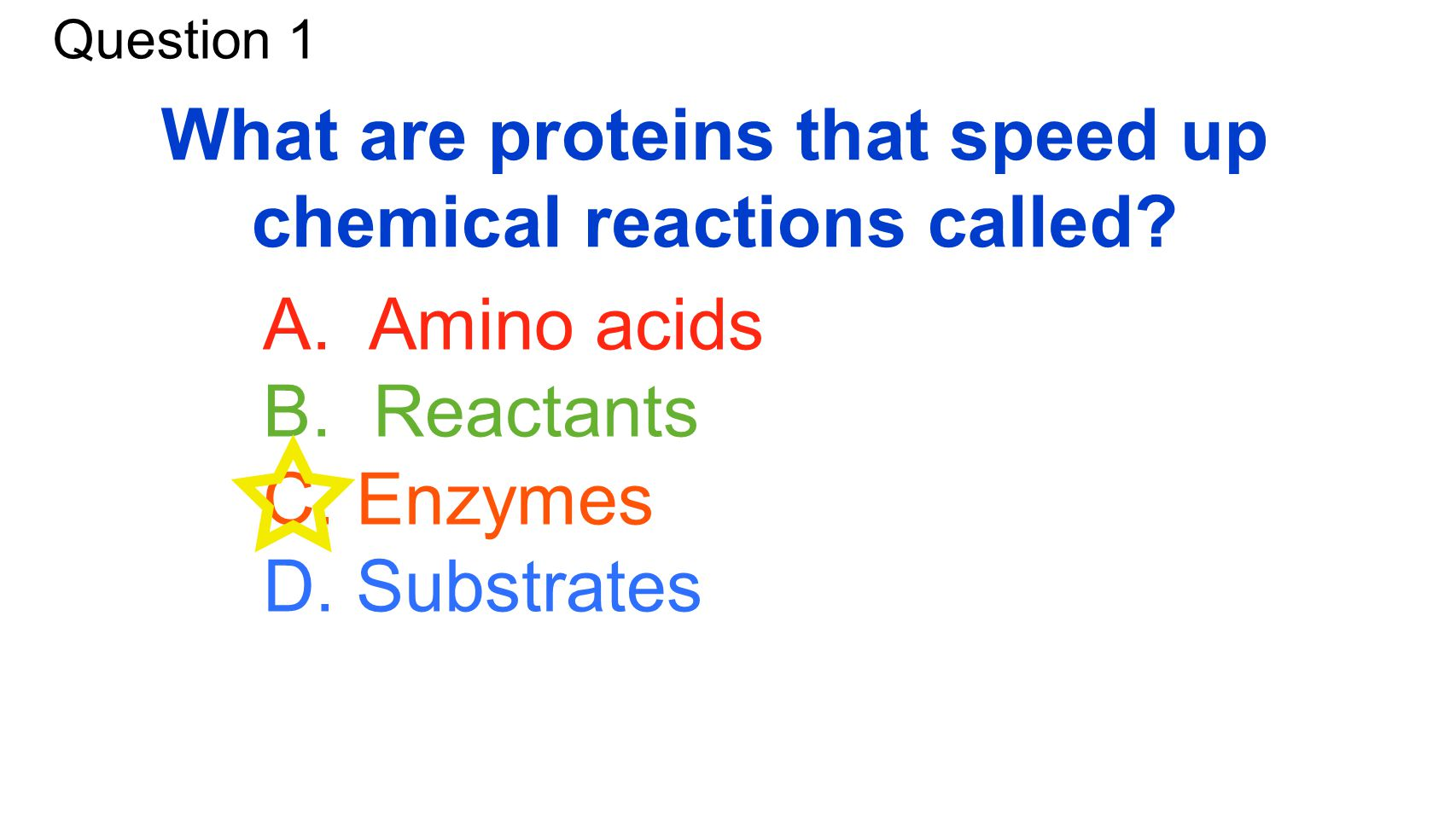 What are proteins that speed up chemical reactions called