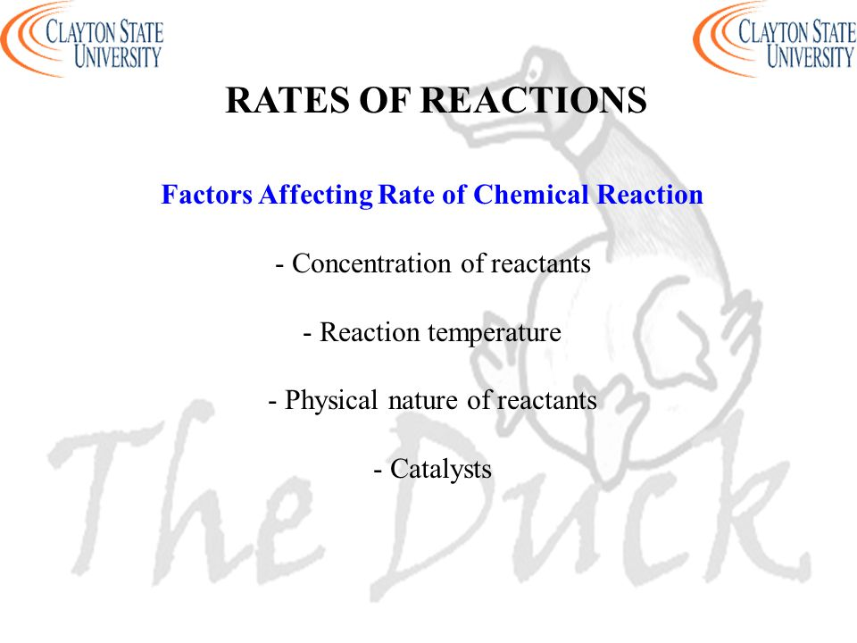 Factors Affecting Rate of Chemical Reaction