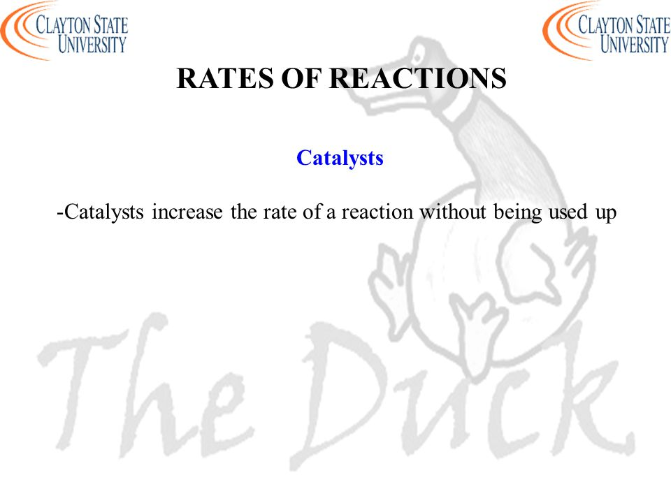 Catalysts increase the rate of a reaction without being used up