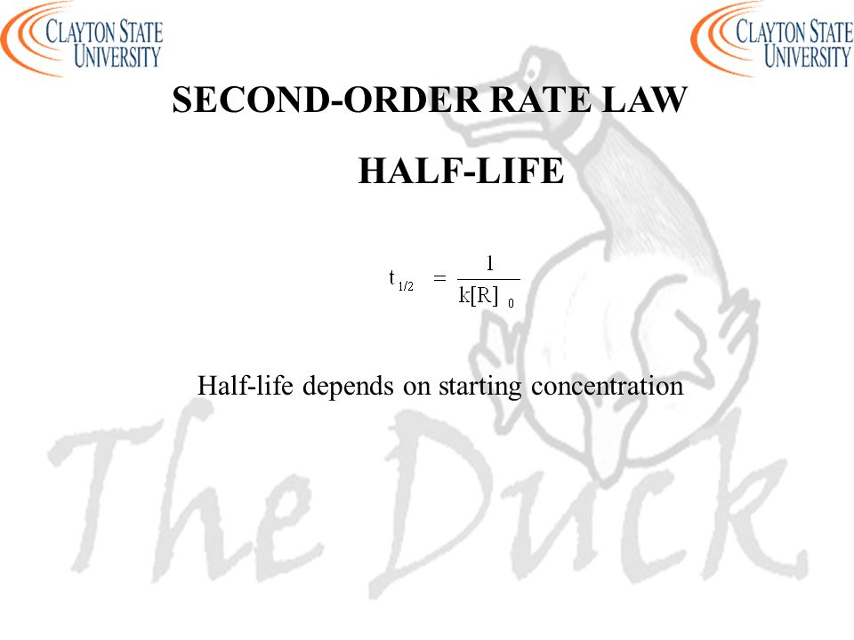 Half-life depends on starting concentration