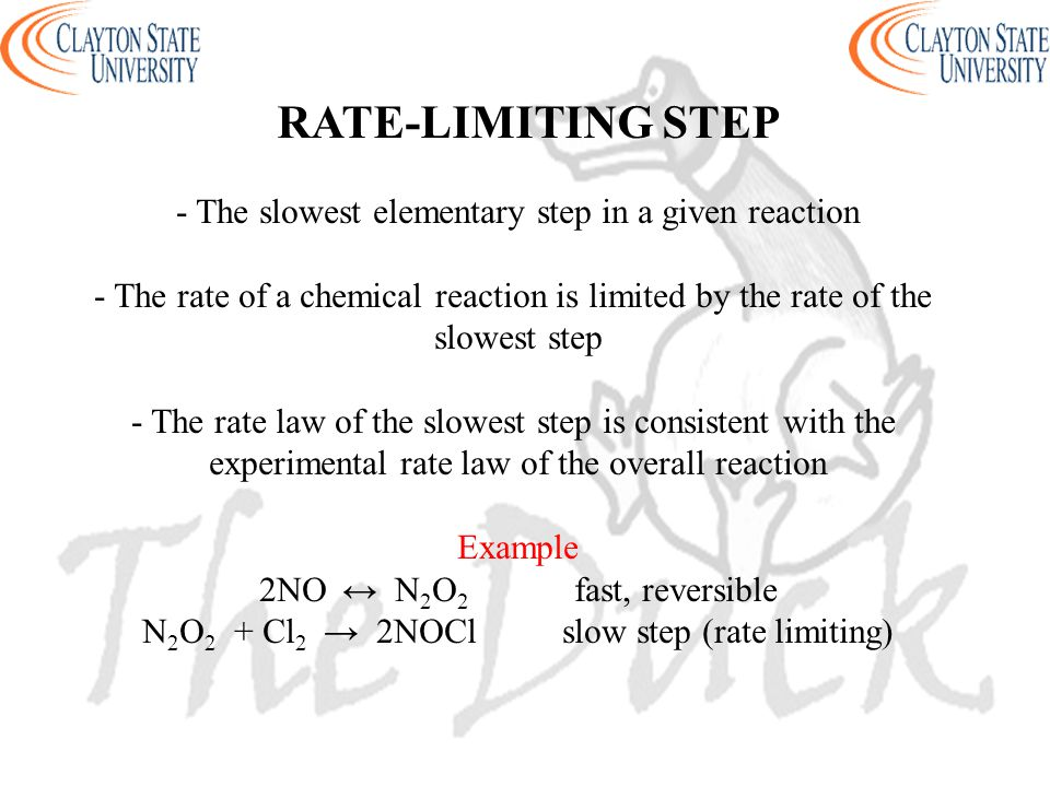 RATE-LIMITING STEP - The slowest elementary step in a given reaction