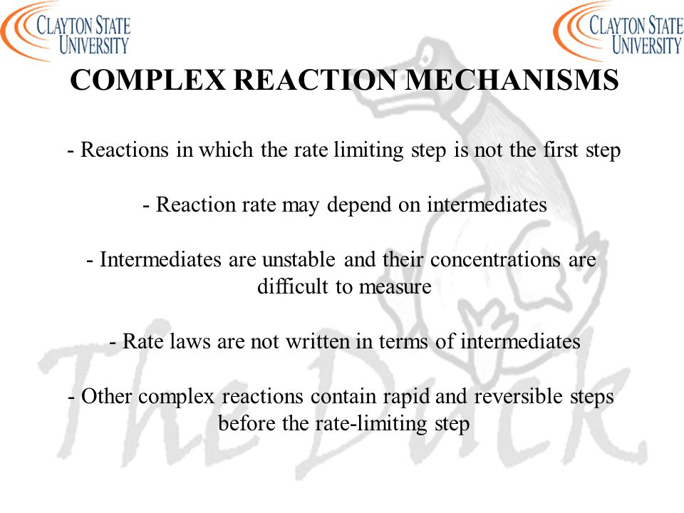 COMPLEX REACTION MECHANISMS