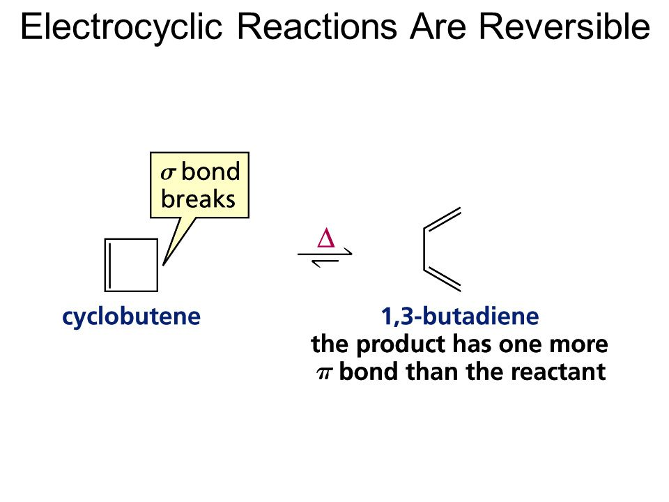 Electrocyclic Reactions Are Reversible