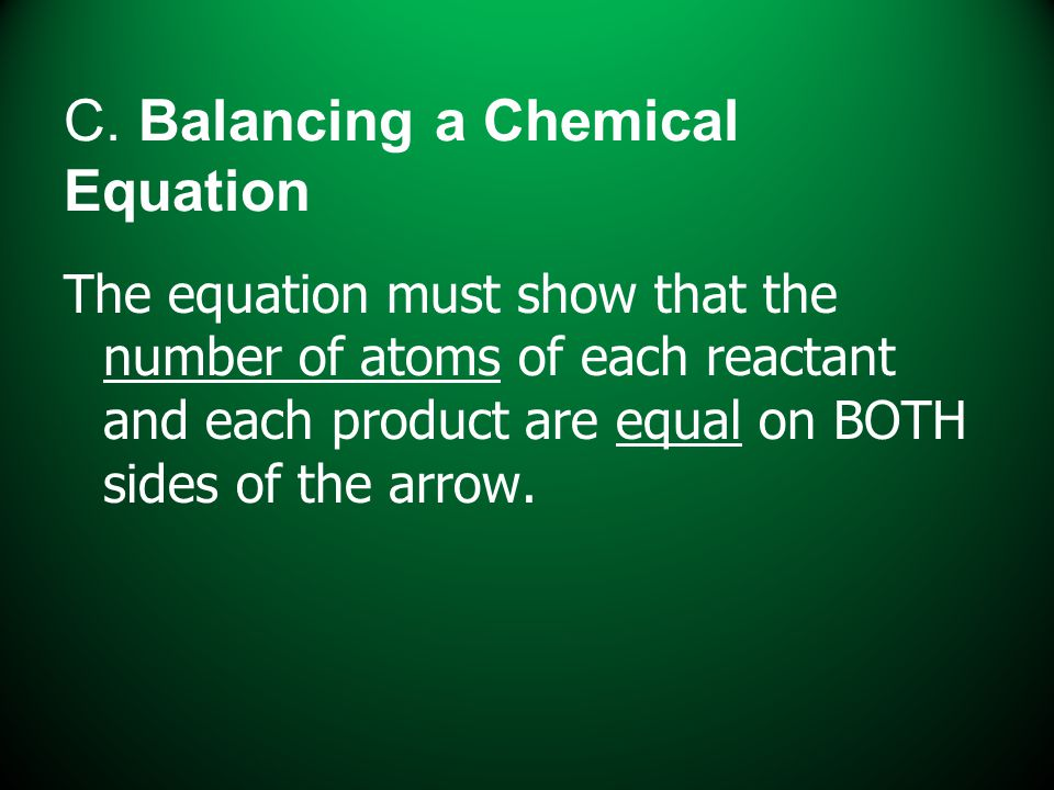 C. Balancing a Chemical Equation