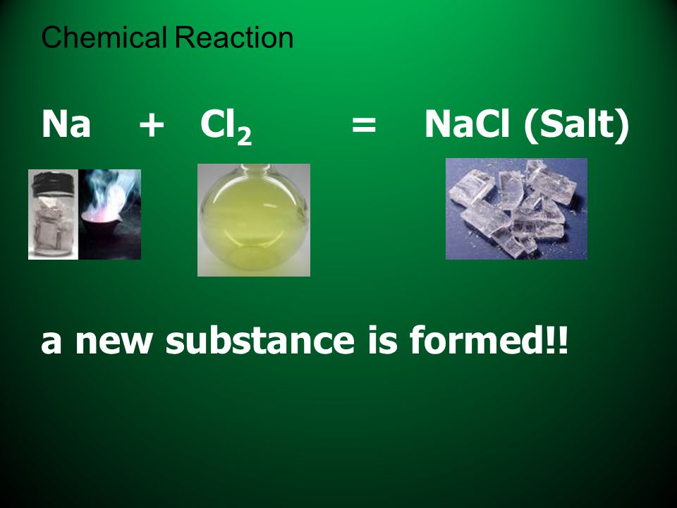 a new substance is formed!!