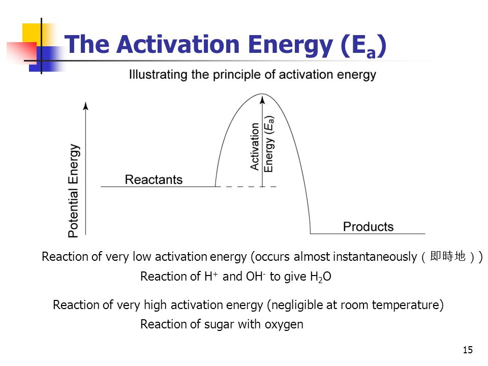 The Activation Energy (Ea)