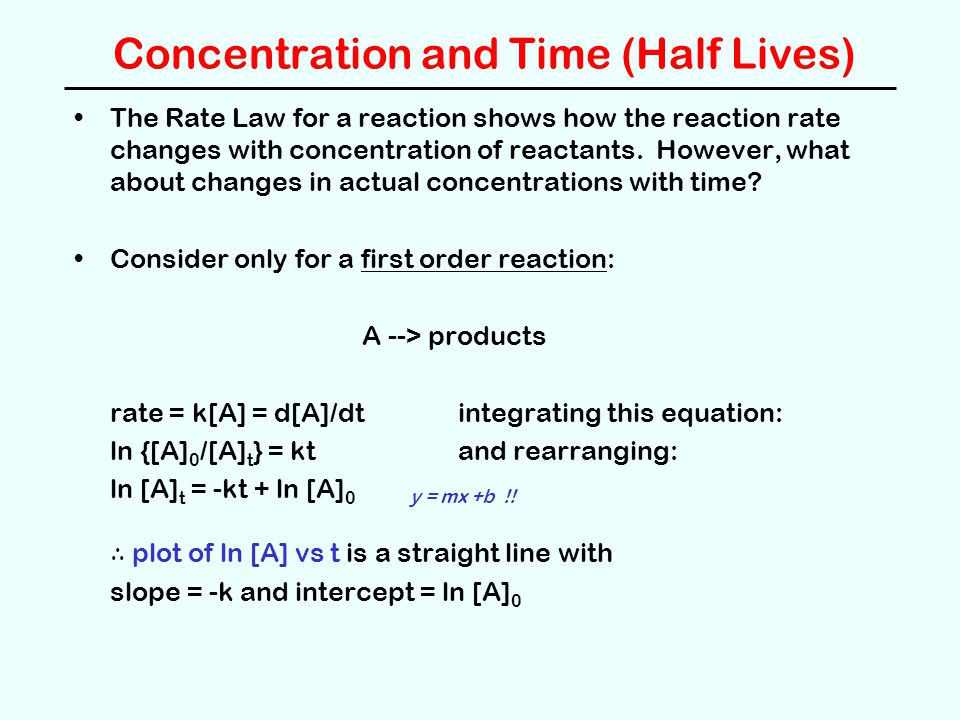 Concentration and Time (Half Lives)