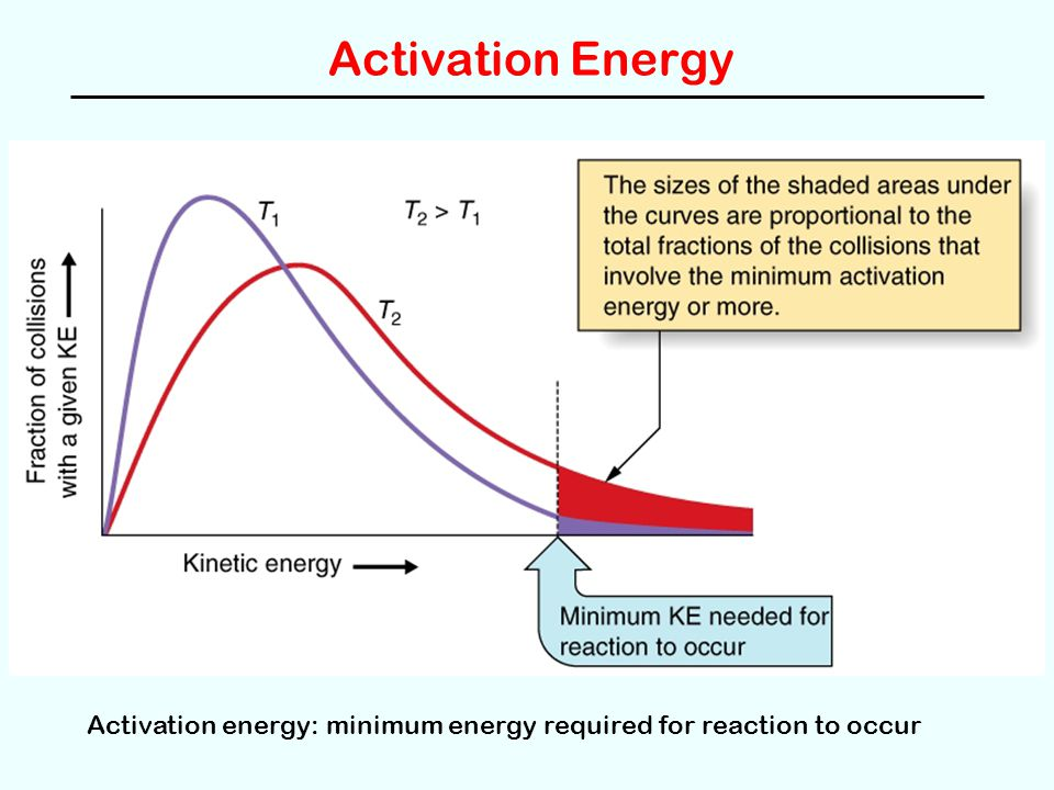 Activation Energy Activation energy: minimum energy required for reaction to occur