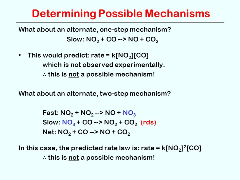Determining Possible Mechanisms
