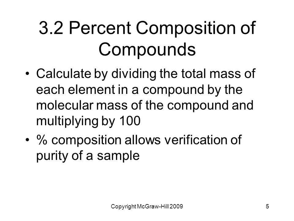 3.2 Percent Composition of Compounds