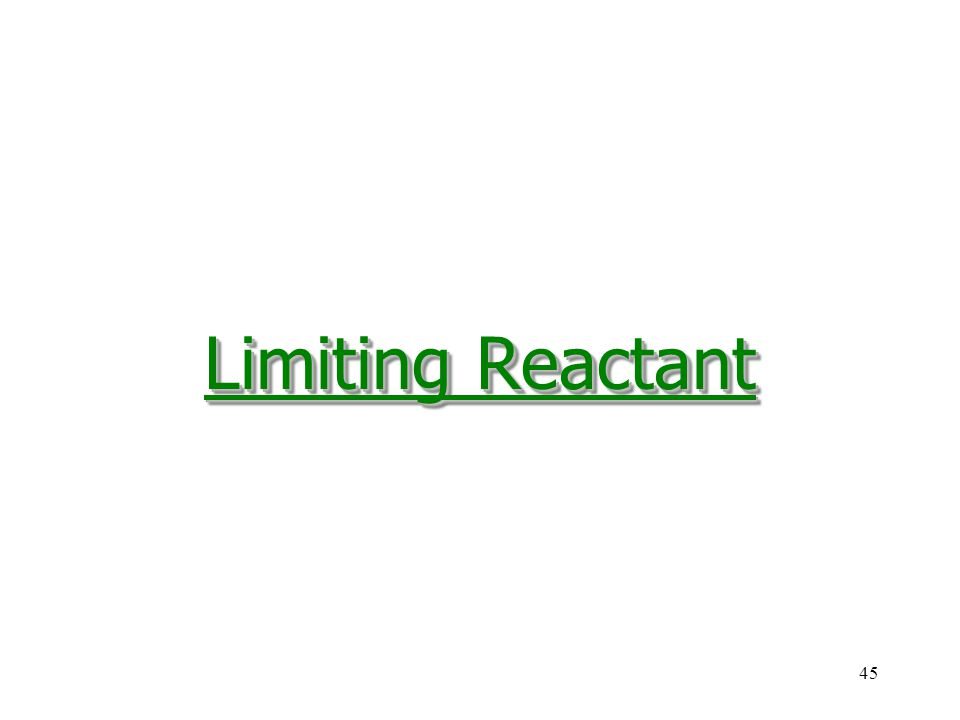 Limiting Reactant