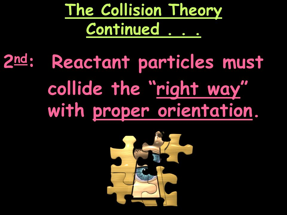 The Collision Theory Continued . . .