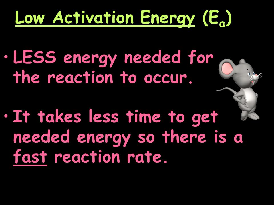Low Activation Energy (Ea)