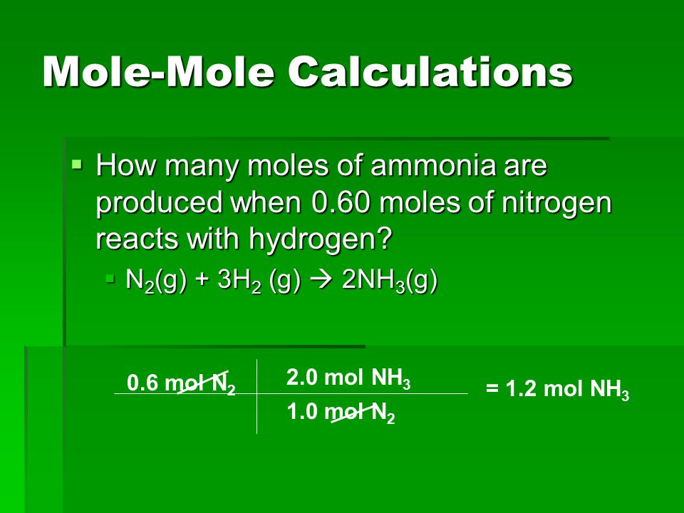 Mole-Mole Calculations