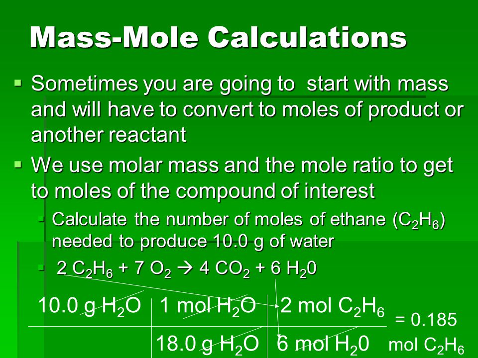 Mass-Mole Calculations
