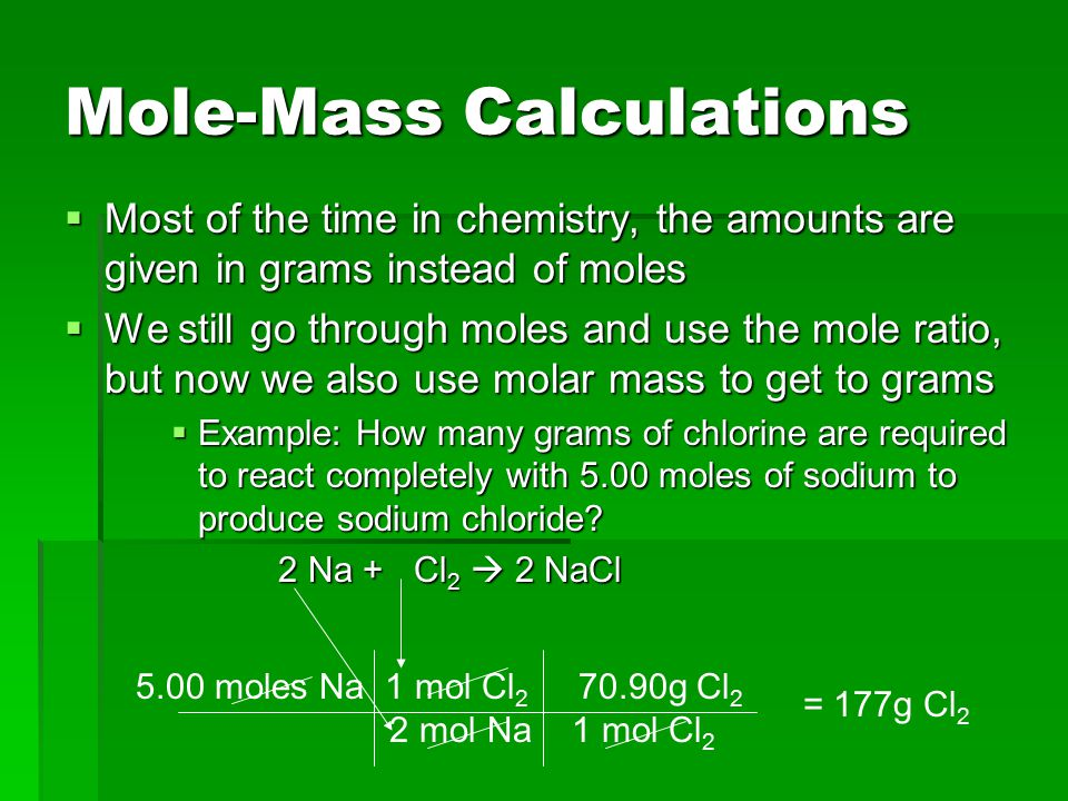 Mole-Mass Calculations