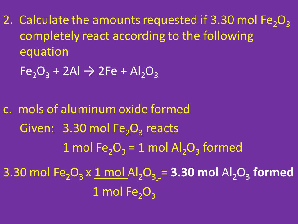 2. Calculate the amounts requested if 3