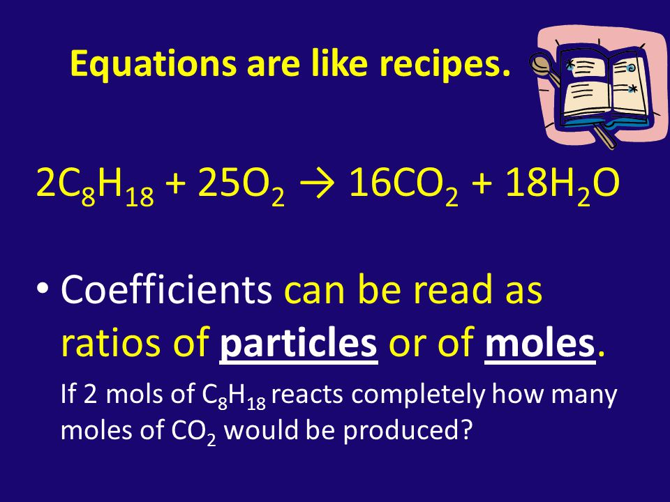 Equations are like recipes.