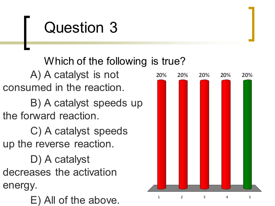 Question 3 Which of the following is true