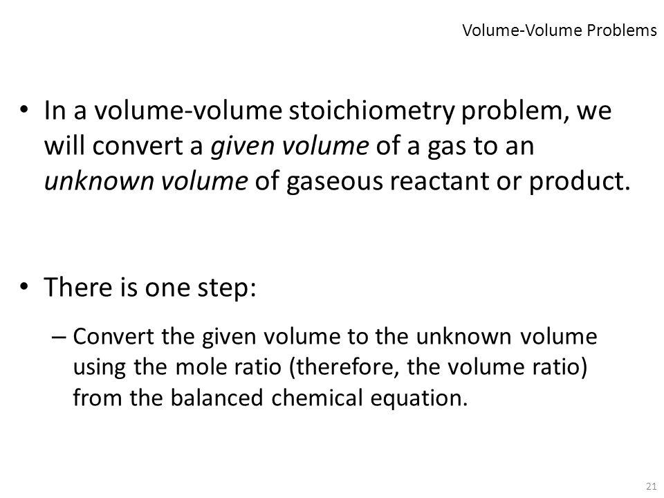 Volume-Volume Problems