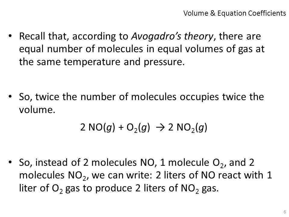 Volume & Equation Coefficients