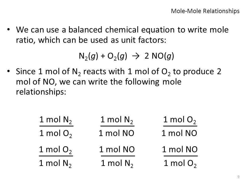 Mole-Mole Relationships