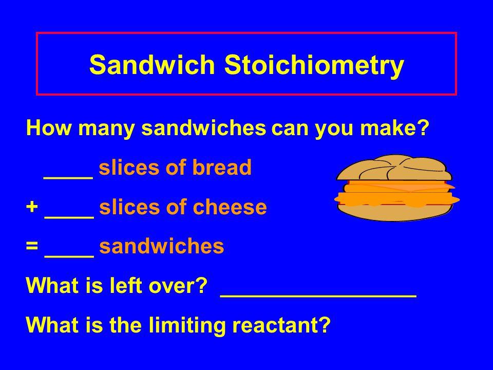 Sandwich Stoichiometry