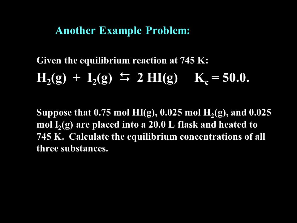 Another Example Problem: