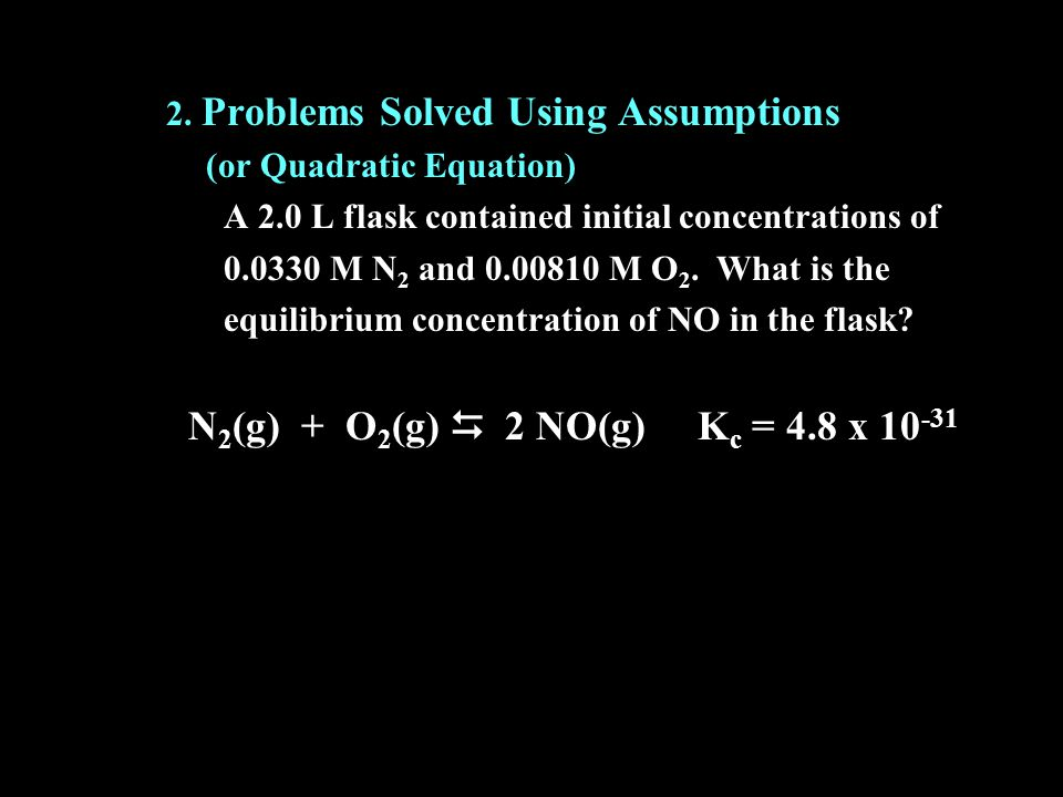 2. Problems Solved Using Assumptions
