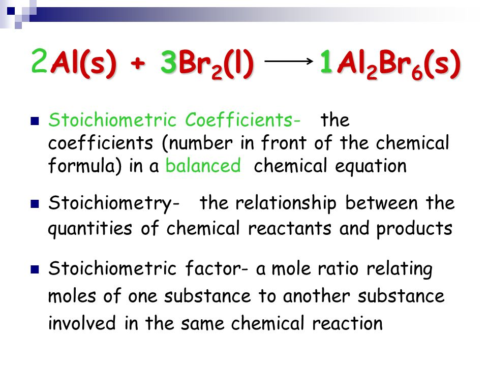 mass relationships in chemical reactions  stoichiometry