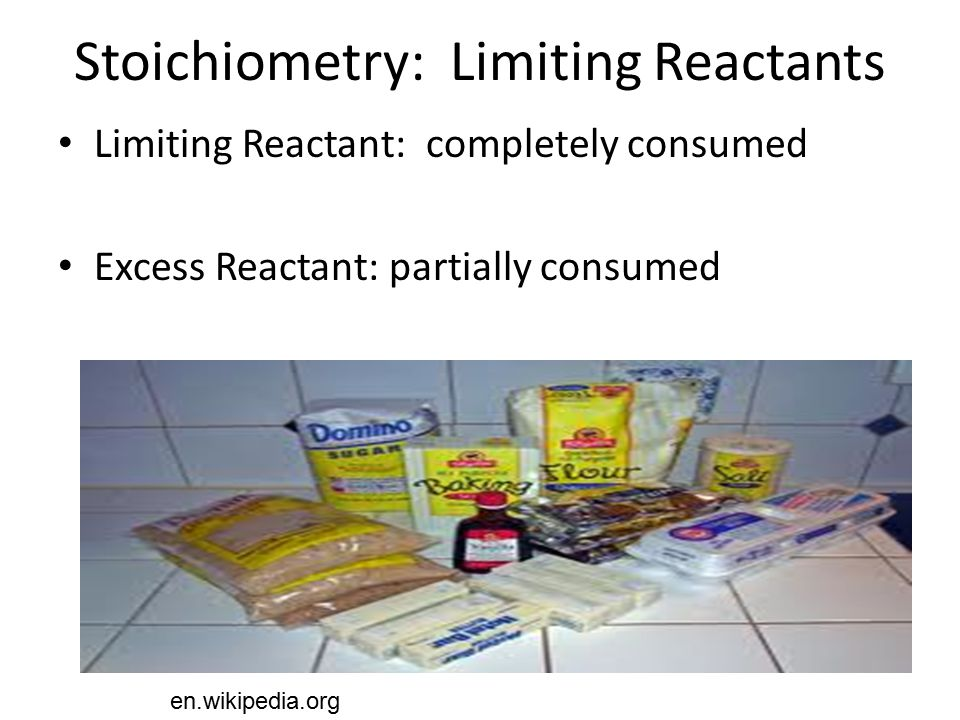 Stoichiometry: Limiting Reactants