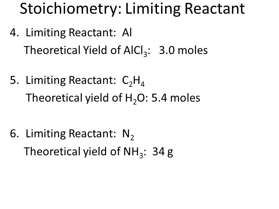 Stoichiometry: Limiting Reactant