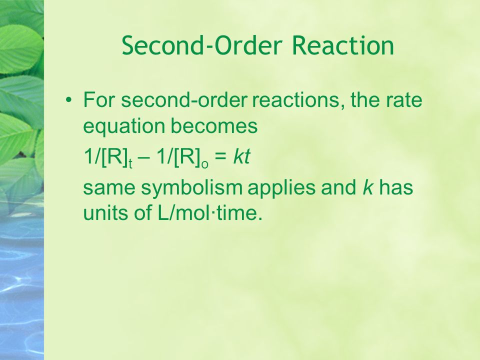 Second-Order Reaction