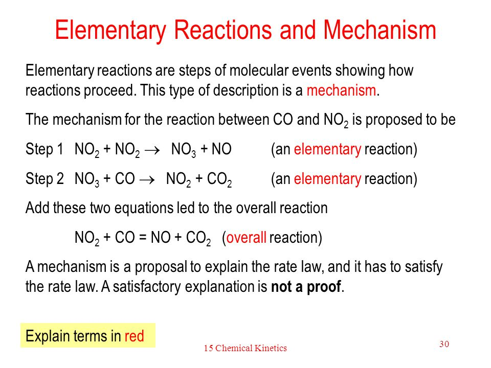 Elementary Reactions and Mechanism