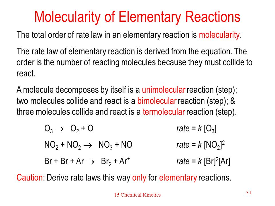 Molecularity of Elementary Reactions