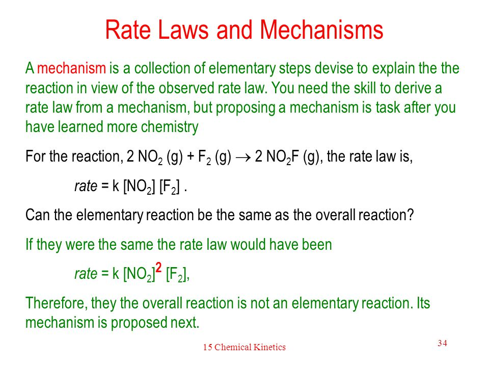 Rate Laws and Mechanisms