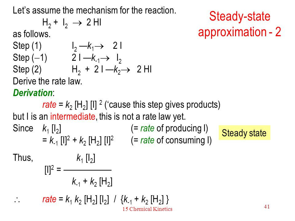 Steady-state approximation - 2