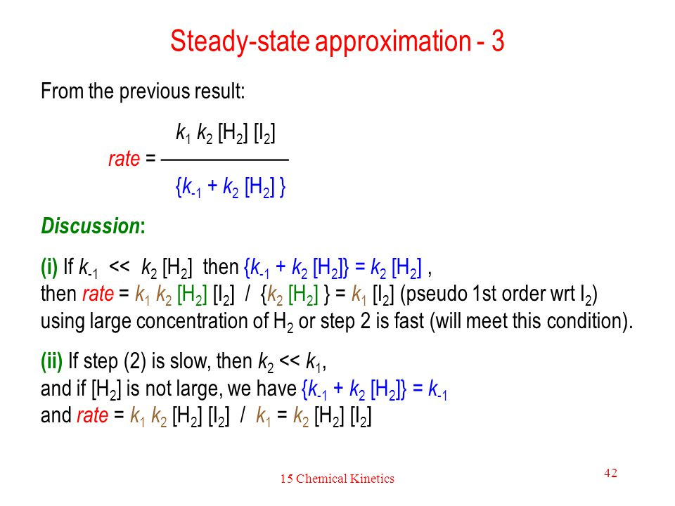 Steady-state approximation - 3