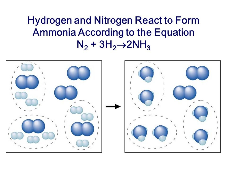Hydrogen and Nitrogen React to Form Ammonia According to the Equation N2 + 3H2®2NH3