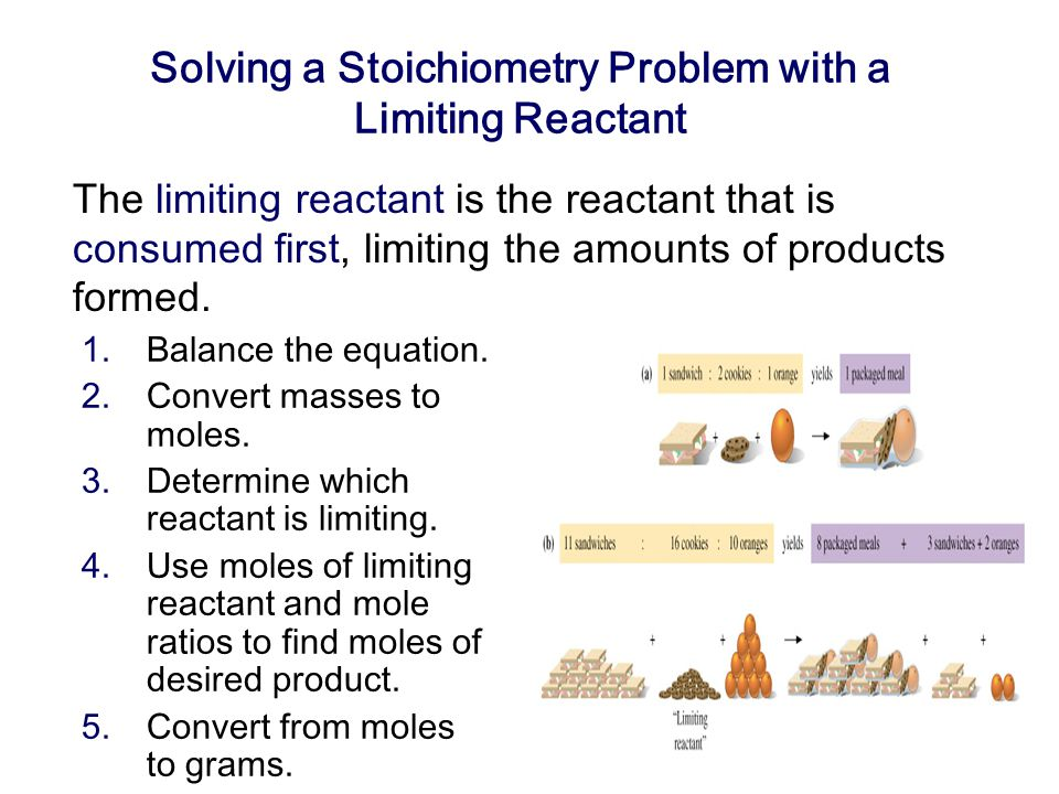 Solving a Stoichiometry Problem with a Limiting Reactant