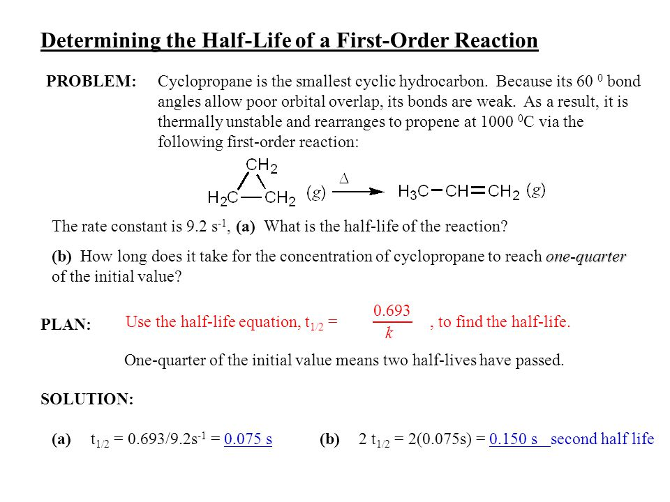 Determining the Half-Life of a First-Order Reaction