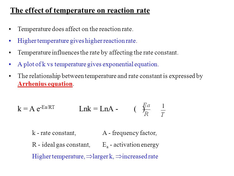 reaction rate and activation energy relationship