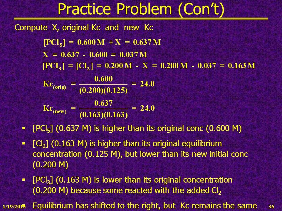 Practice Problem (Con't)