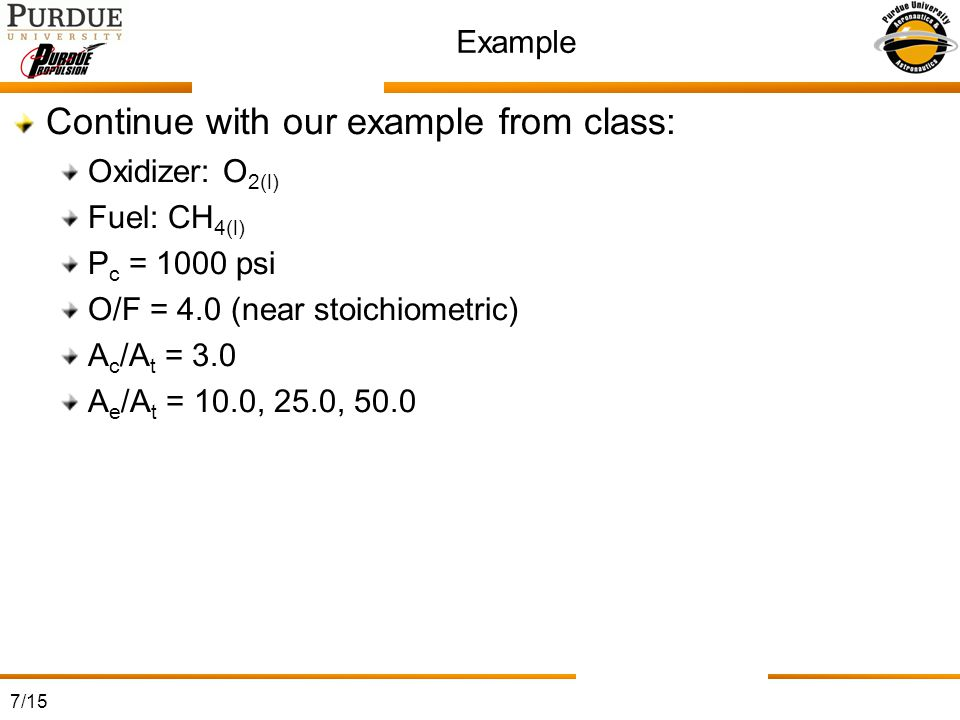 Continue with our example from class:
