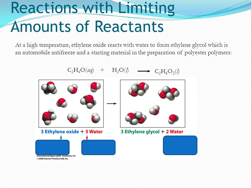 Reactions with Limiting Amounts of Reactants