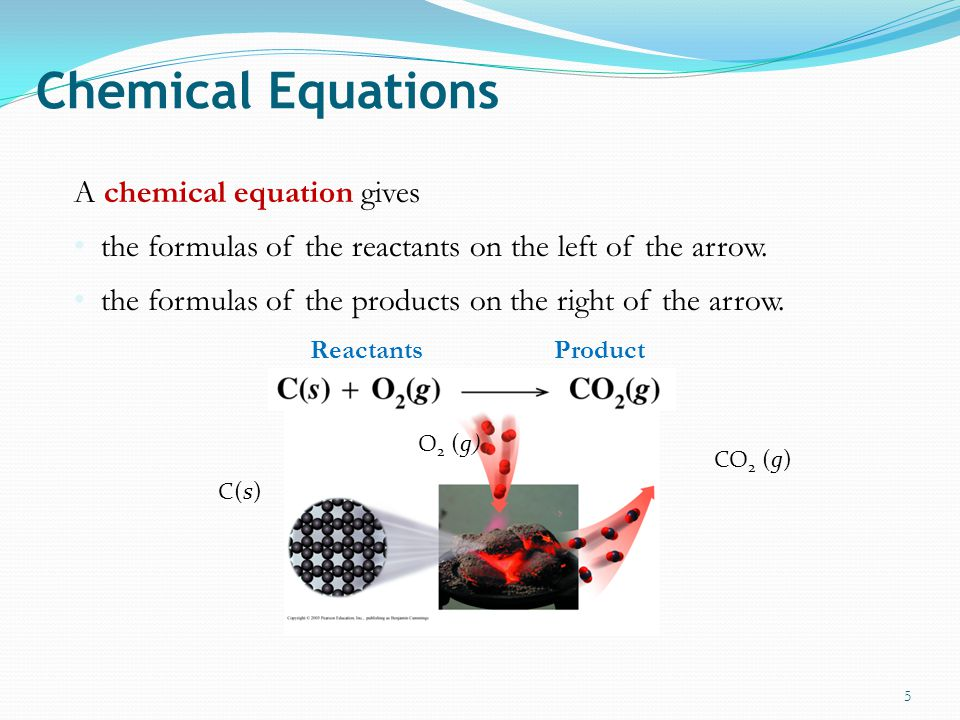 Chemical Equations A chemical equation gives